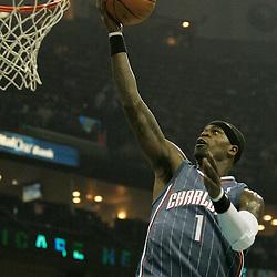 Apr 07, 2010; New Orleans, LA, USA; Charlotte Bobcats guard Stephen Jackson (1) shoots during the first half against the New Orleans Hornets at the New Orleans Arena. Mandatory Credit: Derick E. Hingle-US PRESSWIRE