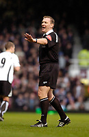 Photo: Leigh Quinnell.<br /> West Ham United v Fulham. The Barclays Premiership. 13/01/2007. Referee Graham Poll.