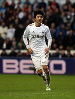 Wednesday 09 February 2013..Pictured: Ki Sung Yueng of Swansea..Re: Barclay's Premier League, Swansea City FC v Queen's Park Rangers at the Liberty Stadium, south Wales.
