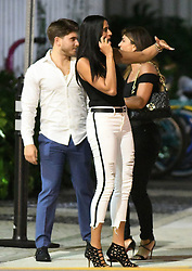 *PREMIUM EXCLUSIVE* Real Housewife of New Jersey Teresa Giudice enjoys a cozy dinner with her new toy boy companion Blake Schreck. Teresa, accompanied by two gal pals, wore a black top, matching jeans and a Hermes belt, while Blake wore blue trousers and a white shirt for the dinner at Chotto Matte in Miami Beach, Florida. The group chatted although onlookers said Blake appeared bored as the evening wore on. Teresa, 46, is reported to have become close friends with the young beau while husband of nearly 20 years, Joe, serves a 41-month prison sentence for mail, wire, and bankruptcy fraud, before being deported to his native Italy. Meanwhile, it seems the mother of his four daughters is moving on with her life. On Saturday, Teresa and Blake, who's 26 yrs old, met up at the swanky Coral Gables Country Club and left with friends at about 11.30pm. Teresa showed off her fabulous figure in a full-length and strapless black evening gown, while Blake wore a back shirt and matching bow tie, black pants, red suspenders, and loafers.They hopped out of the car close to the SLS LUX hotel in the Brickell business district, and disappeared inside. Thirty minutes later, they re-emerged, jumped into an Uber and sped off towards a rented condo, where Teresa and her party have been staying. She instagrammed a photo of herself at the condo's rooftop pool. The previous day, Teresa looked amazing in a plunging one-piece swimsuit as she strolled along the shore at South Beach in the blazing sunshine. News of her friendship with Blake comes as she prepares to reunite with her Jersey co-stars for the long-awaited Season 9 reunion, later this month, where she is expected be clash with co-star Jackie Goldschneider. Meanwhile, Joe languishes at Federal Correctional Institution, Allenwood, Pennsylvania, awaiting deportation. The couple made headlines in 2014 after they pleaded guilty to 41 counts of fraud. Joe had also confessed that he owed more than $200,000 in taxes. Teresa served a litt
