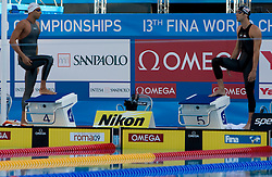 Milorad Cavic of Serbia vs Michael Phelps of USA during the Men's  100m Butterfly Final during the 13th FINA World Championships Roma 2009, on August 1, 2009, at the Stadio del Nuoto,  in Foro Italico, Rome, Italy. (Photo by Vid Ponikvar / Sportida)