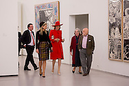The Hague , 29-11-2016 <br /> <br /> State Visit of King Filip and Queen Mathilde to The Netherlands.<br /> Queen Maxima  and Queen Mathilde<br /> Visit the Pierre Alechinsky Post Cobra exhibition at the Cobra Museum of Amstelveen.<br /> <br /> Meeting with Prime Minister Rutte <br /> COPYRIGHT ROYALPORTRAITS EUROPE/ BERNARD RUEBSAMEN