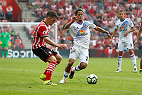 Football - 2016 / 2017 Premier League - Southampton vs. Sunderland<br /> <br /> Southampton's Pierre-Emile Hojbjerg and Steven Pienaar of Sunderland in action at St Mary's Stadium Southampton <br /> <br /> Colorsport/Shaun Boggust
