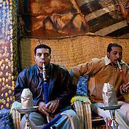 nubian cafe  Louxor - Egypte    /  cafe nubien  Louqsor - Egypt   /  LOUX036