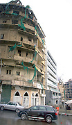 LEBANON, BEIRUT:  Buildings destroyed by the February 14th car bomb that killed former Prime Minister Rafik Hariri and 16 others in downtown Beirut.