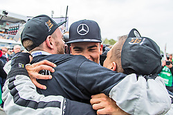 17.10.2015, Hockenheimring, Hockenheim, GER, DTM, Hockenheim, im Bild Pascal Wehrlein (DTM Mercedes AMG C Coupe) feiert mit seinen Mechanikern den Sieg in der DTM Saison 2015 // during the DTM Championship Race at the Hockenheimring in Hockenheim, Germany on 2015/10/17. EXPA Pictures &copy; 2015, PhotoCredit: EXPA/ Eibner-Pressefoto/ Neis<br /> <br /> *****ATTENTION - OUT of GER*****
