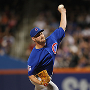 NEW YORK, NEW YORK - July 02: Pitcher Travis Wood #37 of the Chicago Cubs pitching during the Chicago Cubs Vs New York Mets regular season MLB game at Citi Field on July 02, 2016 in New York City. (Photo by Tim Clayton/Corbis via Getty Images)
