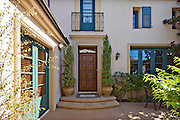 Entrance to a beautiful Mediterranean home exterior