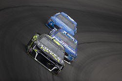 June 10, 2018 - Brooklyn, Michigan, United States of America - Jimmie Johnson (48) races off turn one during the FireKeepers Casino 400 at Michigan International Speedway in Brooklyn, Michigan. (Credit Image: © Stephen A. Arce/ASP via ZUMA Wire)