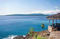 Java, Banyuwangi. View from Java to Bali, close to the ferry terminal near Banyuwangi.