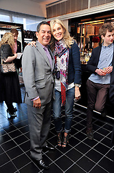JESUS ADORNO and KIM HERSOV at a brunch hosted by Zac Posen to launch the Belvedere Bloody Mary Brunch held at Le Caprice, 25 Arlington Street, London on 7th April 2011.