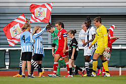 The teams make their way onto the pitch before kickoff - Mandatory byline: Rogan Thomson/JMP - 09/07/2016 - FOOTBALL - Stoke Gifford Stadium - Bristol, England - Bristol City Women v Milwall Lionesses - FA Women's Super League 2.