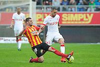 Pierrick VALDIVIA / Layvin KURZAWA - 26.04.2015 - Lens / Monaco - 34eme journee de Ligue 1<br /> Photo : Nolwenn Le Gouic / Icon Sport