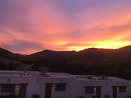sunrise from Davis Mountains State Park Indian Lodge