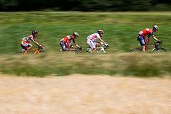 Kohei Uchima (JPN) of Nippo-Vini Fantini, Borut Bozic (SLO) of Bahrain-Merida, Francesco Bongiorno (ITA) of Sangemini-MG. K VIS, David Per (SLO) of Bahrain-Merida during Stage 3 of 24th Tour of Slovenia 2017 / Tour de Slovenie from Celje to Rogla (167,7 km) cycling race on June 16, 2017 in Slovenia. Photo by Vid Ponikvar / Sportida