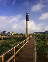 AA05899-04...NORTH CAROLINA - Oak Island Lighthouse on Long Bay near the mouth of the Cape Fear River.