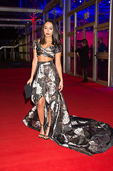 Singer LEIGH-ANNE PINNOCK from pop group Little Mix at the Battersea Dogs & Cats Home's Collars & Coats Gala Ball held at Battersea Evolution, Battersea Park, London on 12th November 2015.