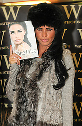 """© under license to London News Pictures. 25.11.2010 Katie Price at Waterstones in Bluewater to Launch her new book. """" You Only Live Once""""(5pm).  Picture credit should read Grant Falvey/London News Pictures"""
