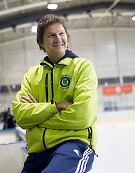 Marko Sinkovec during a training session of Team Slovenia Women Curling team for 2013 European Women's Curling Championships in Norway on November 18, 2013 in Arena Zalog, Ljubljana, Slovenia.  Photo by Vid Ponikvar / Sportida