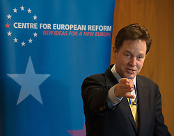 Nick Clegg MP, Deputy Prime MInister,<br /> at the launch of the CER report 'How to build a modern European Union'<br />  London, United Kingdom. Wednesday, 5th March 2014. Picture by Anthony Upton / i-Images