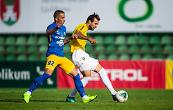 Tadej Vidmajer of Celje vs Mustafa Nukić of Bravo during football match between NK Bravo and NK Celje in 13th Round of Prva liga Telekom Slovenije 2019/20, on October 5, 2019 in ZAK stadium, Ljubljana, Slovenia. Photo by Vid Ponikvar / Sportida