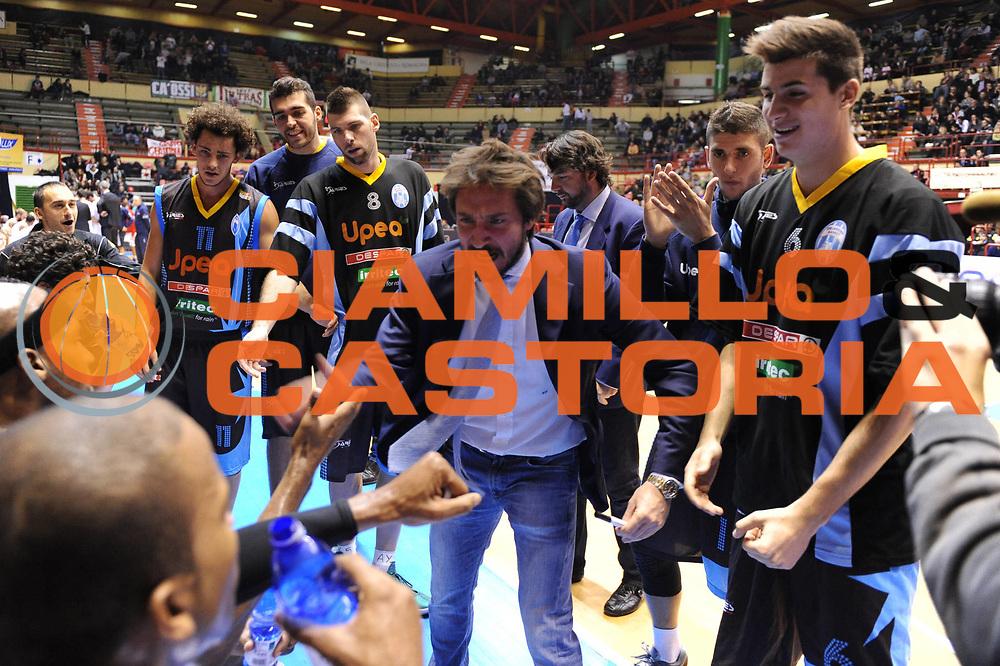 DESCRIZIONE : Forli Legadue 2012-13 Le Gamberi Foods Forli Upea Capo Orlando<br /> GIOCATORE : Gianmarco Pozzecco<br /> CATEGORIA : timeout<br /> SQUADRA : Upea Capo Orlando<br /> EVENTO : Campionato Lega A2 2011-2012<br /> GARA : Le Gamberi Foods Forli Upea Capo Orlando<br /> DATA : 07/12/2012<br /> SPORT : Pallacanestro<br /> AUTORE : Agenzia Ciamillo-Castoria/M.Marchi<br /> Galleria : Lega Basket A2 2012-2013 <br /> Fotonotizia : Forli Legadue 2011-12 Le Gamberi Foods Forli Upea Capo Orlando<br /> Predefinita :