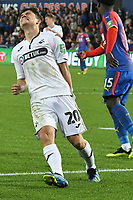 Football - 2018 / 2019 EFL Carabao Cup (League) Cup - Swansea City vs. Crystal Palace<br /> <br /> Daniel James, of Swansea City looks anguished after shooting wide , at Liberty Stadium.<br /> <br /> COLORSPORT/WINSTON BYNORTH