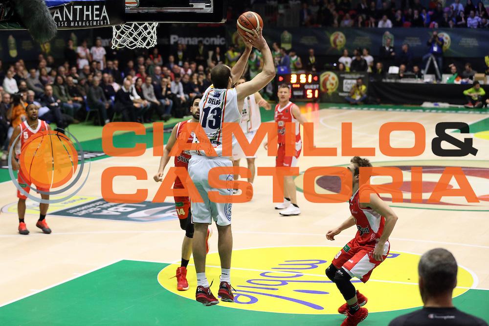 Delas Mario<br /> Grissin Bon Reggio Emilia - Betaland Capo D'Orlando<br /> Poste Mobile Final Eight F8 2017 <br /> Lega Basket 2016/2017<br /> Rimini, 16/02/2017<br /> Foto Ciamillo-Castoria/