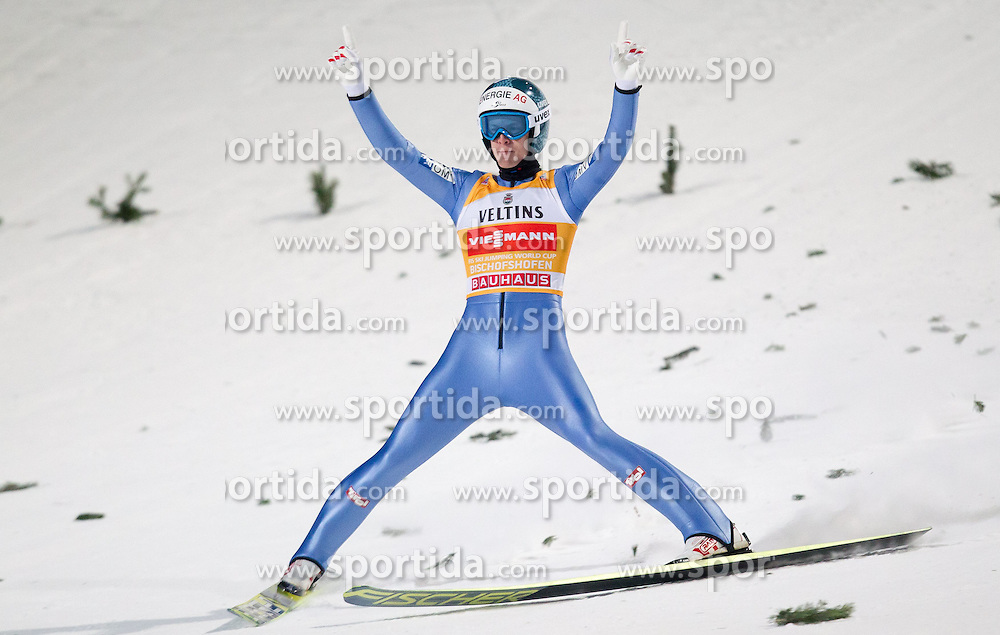 06.01.2015, Paul Ausserleitner Schanze, Bischofshofen, AUT, FIS Ski Sprung Weltcup, 63. Vierschanzentournee, Finale, im Bild Tagessieger Michael Hayboeck (AUT) // Michael Hayboeck of Austria during Final Jump of 63rd Four Hills <br /> Tournament of FIS Ski Jumping World Cup at the Paul Ausserleitner Schanze, Bischofshofen, Austria on 2015/01/06. EXPA Pictures &copy; 2015, PhotoCredit: EXPA/ JFK