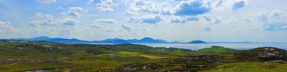 View looking South-West from Banba's Crown, Malin Head towards Dunaff Head and the mouth of Lough Swilly.<br />