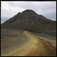 Vegahnjúkur mountain on highway no 1,  Jökuldalshreppur. Vegahnjúkur á þjóðvegi 1 í Jökuldalshreppi.<br />