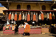 Dried vegetables in Gaziantep, Turkey
