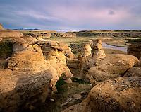 Sandstone Hoodoos, Writing on Stone Provincial Park Alberta Canada