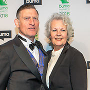 NLD/Amsterdam/20180305 - Uitreiking Buma Awards 2018, Huub van der Lubbe en partner Teuntje Klinkenberg