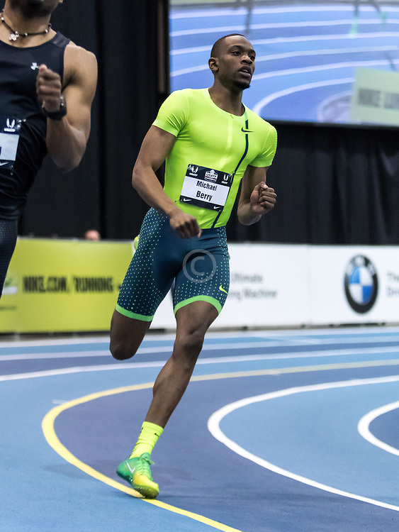 USATF Indoor Track & Field Championships: mens 300, Michael Berry, Nike