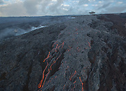 Lava flow, Volcanos National Park, Hawaii Lava flow from Hawaii's Kilauea Volcano, Volcanoes National Park, Hawaii
