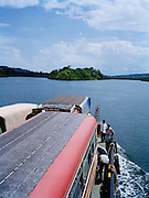 Ferry crossing between South and Middle Andaman Islands