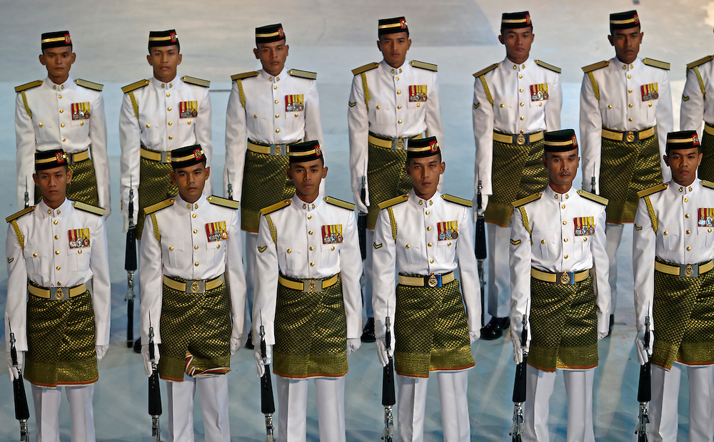 Malaysian guard of honor during the Independence Day celebration, August 2011.