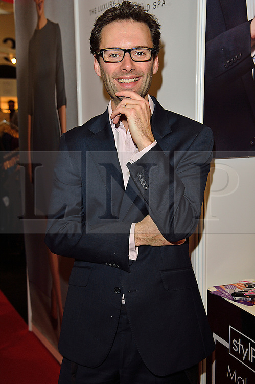 © Licensed to London News Pictures. 28/03/2016. Former Apprentice TV show star TOM PELLEREAU at The Professional Beauty Show. The show is the largest in the UK and one of the largest in Europe. London, UK. Photo credit: Ray Tang/LNP