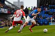 James Bolton (13) of Portsmouth on the attack during the The FA Cup match between Portsmouth and Barnsley at Fratton Park, Portsmouth, England on 25 January 2020.