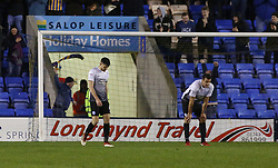 Jack Baldwin of Peterborough United cuts a dejected figure after Shrewsbury Town score their second goal - Mandatory by-line: Joe Dent/JMP - 24/04/2018 - FOOTBALL - Montgomery Waters Meadow - Shrewsbury, England - Shrewsbury Town v Peterborough United - Sky Bet League One