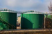 Fuel storage tanks, Hamburg, Germany