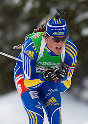 Fredrik Lindstroem of Sweden during the Mixed 2x6 + 2x7,5km relay of the e.on IBU Biathlon World Cup on Saturday, December 19, 2010 in Pokljuka, Slovenia. The fourth e.on IBU World Cup stage is taking place in Rudno polje - Pokljuka, Slovenia until Sunday December 19, 2010. (Photo By Vid Ponikvar / Sportida.com)