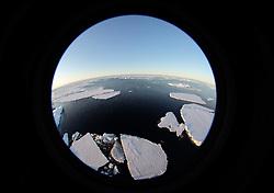 ATLANTIC OCEAN ABOARD ARCTIC SUNRISE 31MAY11 - Arctic sea ice in the Labrador Sea seen from aboard the Greenpeace Ship Arctic Sunrise.....jre/Photo by Jiri Rezac / Greenpeace