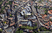 aerial photograph of Norwich city centre  , Norfolk,showing the area around Prince of Wales Rd Norwich NR1 1BD including King St Norwich  NR1 1PH, Upper King St<br />  NR3 1RB  , Bank Plain  NR2 4SF and Rose Lane<br /> Norwich NR1 1PL