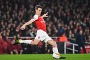 Arsenal Defender Laurent Koscielny (6) during the Europa League round of 16, leg 2 of 2 match between Arsenal and Rennes at the Emirates Stadium, London, England on 14 March 2019.
