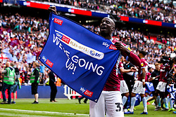 Albert Adomah of Aston Villa celebrates winning promotion from the Sky Bet Championship to the Premier League after winning the Sky Bet Playoff Final - Mandatory by-line: Robbie Stephenson/JMP - 27/05/2019 - FOOTBALL - Wembley Stadium - London, England - Aston Villa v Derby County - Sky Bet Championship Play-off Final