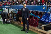 Tayfun Korkut of Bayer 04 Leverkusen during the match of Uefa Champions League between Atletico de Madrid and Bayer Leverkusen at Vicente Calderon Stadium  in Madrid, Spain. March 15, 2017. (ALTERPHOTOS / Rodrigo Jimenez)