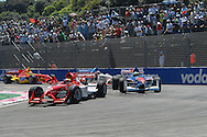 DURBAN, South Africa, Robert Wickens of Team Canada leading Oliver Jarvis of Team Great Britian and Congfu Cheng of Team China during the Sprint race on Sunday held as part of the A1GP race weekend in Durban, South Africa on Sunday 24 February 2008.  Photo: SportsPics/Sportzpics