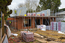 The building site in Stanmore, North London, where a property development company Landrose Developments Limited faces an unlimited fine after destroying a bungalow containing protected soprano pipistrelle bats, an animal of a European protected species, so they could build a new house. London, April 04 2019.